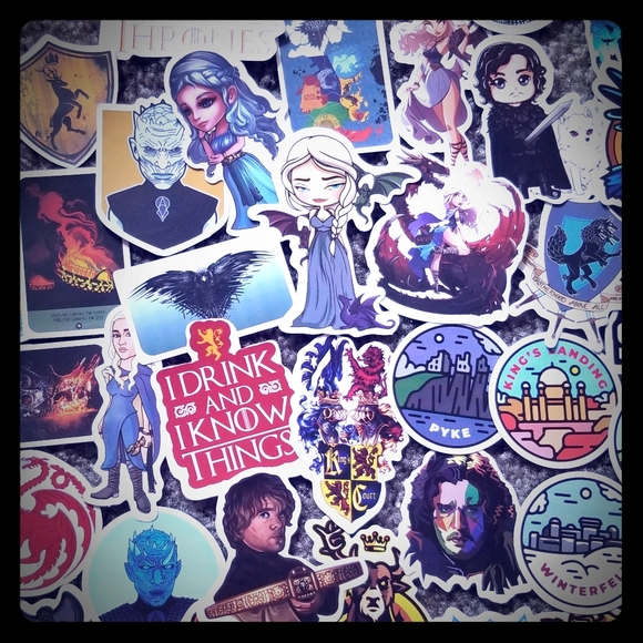 4/$12 Sale Game of Thrones Stickers